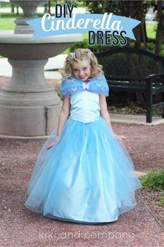 DIY Cinderella Ball Gown Dress Tutorial at kiki and company. LOVE!