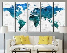 Giant canvas wall banner world map wall banner canvas walls and world map canvas art print large wall art by extralargewallart gumiabroncs Image collections
