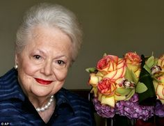 Feud: In rare public remarks about her sister and fellow Oscar-winning actress, Olivia de Havilland (pictured in 2004) mourned the loss of J...