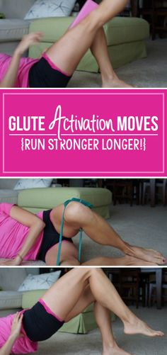 Fitness Motivation : Illustration Description Glute Activation exercises to help prevent IT Band and Runner's Knee – great for runners and cyclists -Read More – Glute Activation Exercises, Knee Exercises, Hip Stretches, Fitness Goals, Fitness Tips, Fitness Motivation, Marathon Training, Triathlon Training, Running Workouts