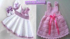 Vestidito para niñas y bebes tejidos en crochet , los mas hermosos diseños. NUEVO TUTORIAL PASO A PASO COMPLETO VESTIDO BEBE AQUI https://www.youtube.com/wat...