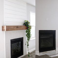 7 Sharing ideas: Stone Fireplace Floor To Ceiling contemporary fireplace ideas.Fixer Upper Fireplace Corner fireplace built ins farmhouse. Wooden Fireplace, Simple Fireplace, Fireplace Garden, Fake Fireplace, Fireplace Built Ins, Shiplap Fireplace, Fireplace Mirror, Concrete Fireplace, Bedroom Fireplace