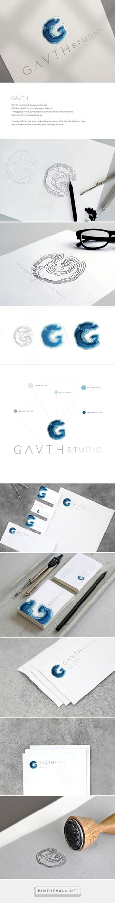 Gavth Studio Logo & Visual Identity on Behance - created via https://pinthemall.net