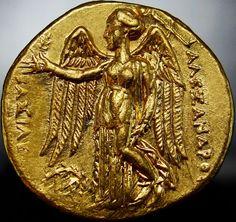 Alexander the Great Gold STATER. FLEUR DE COIN *THE BEST ANCIENT GREEK GOLD COIN