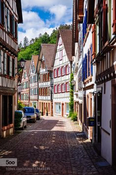Quiet traditional cityscape in Schiltach Germany