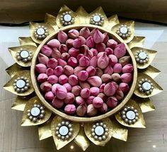 Desi Wedding Decor, Home Wedding Decorations, Diwali Decorations, Festival Decorations, Flower Decorations, Wedding Ideas, Home Flower Decor, Pooja Door Design, Ganpati Decoration At Home