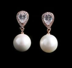I shopped at Bridalorium for my jewelry, they were fantastic! Pearl Stud Earrings, Pearl Studs, Gold Pearl, Bridal Jewellery, Jewelry, Pearls, Jewellery Making, Jewels, Jewlery