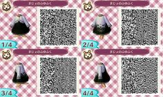 animal crossing new leaf qr code | Animal Crossing: New Leaf QR Code Repository - Black dress with white lace overlay