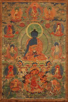Tibetan buddhist thangka of green tara tibet visual dharma art mb3 fandeluxe Images
