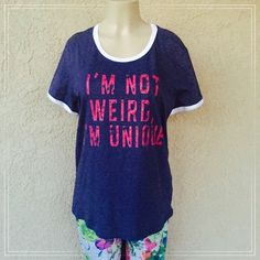 """Graphic Tee Beautiful dark grey top. 🔹Measurements lying flat armpit to armpit :22.5 ,length : 28"""". 🔹Material 60%cotton 40%polyester . Tops Tees - Short Sleeve"""