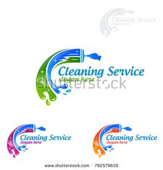 Cleaning Service vector Logo design, Eco Friendly Concept with shiny splash isolated on white Background Clean Life, Clean House, Vector Logo Design, Branding Design, Graphic Design, Laundry Logo, Laundry Company, Cleaning Service Logo, Professional Logo Design