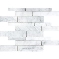 �White Venatino Marble Natural Stone Mosaic Wall Tile (Common: 12-in x 12-in; Actual: 12-in x 12-in)