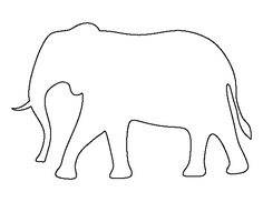 Elephant pattern. Use the printable outline for crafts, creating stencils, scrapbooking, and more. Free PDF template to download and print at http://patternuniverse.com/download/elephant-pattern/