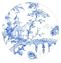 Scalamandre pillement toile China by Lenox