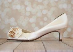 Champagne Kitten Heel Shoes | Tsaa Heel