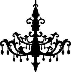 Chandelier SVG file, by OMC Designer Alissa Mortensen