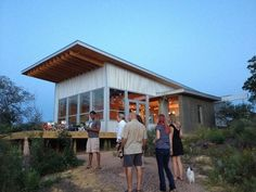 houses with single slope roofs and metal siding - Google Search