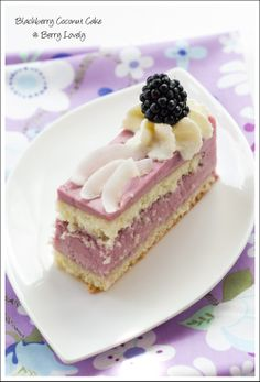 Blackberry Coconut Cakes