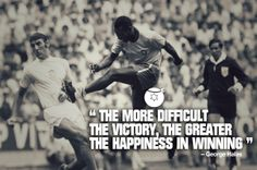 """""""The more difficult the victory, the greater the happiness of winning"""" -George Halas #Winning #Victory #Sports"""