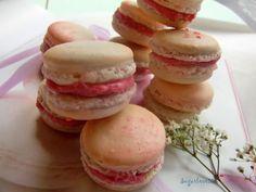 Sugarlove55: Macarons  rellenos de ganache de chocolate y Butte...