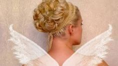 Wedding updo Curly prom hairstyles for short medium long hair tutorial Cute bridesmaid Greek goddess, via YouTube. Curly Prom Hair, Thick Curly Hair, Prom Hairstyles For Short Hair, Curls For Long Hair, Prom Hair Updo, Medium Long Hair, Medium Hair Styles, Wedding Hairstyles, Curly Hair Styles