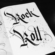 Rock & Roll gothic type by Seb Lester.