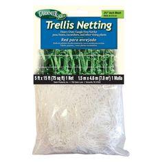 Gardeneer 5 x 15 ft. Heavy-Duty Tangle-Free Trellis Netting - 1388-6429