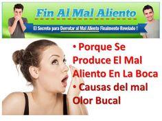Porque Se Produce El Mal Aliento En La Boca: mal olor bucal causas http://ParaelMalAliento.blogspot.com/2016/04/porque-se-produce-el-mal-aliento-en-la-boca-causas.html Como Quitar el Mal Aliento en la Boca para Librarte de La Halitosis bucal.