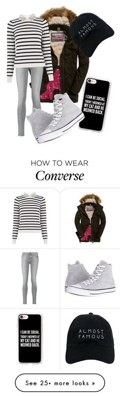 """simple"" by elisabetta-negro on Polyvore featuring 7 For All Mankind, Nasaseasons, Oasis, Casetify and Converse"