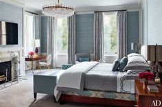 Phillip Jefferies Grasscloth in the bedroom   Top Ten Bedroom Wallpapers