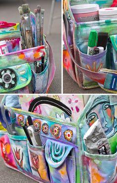 art journal travel bag