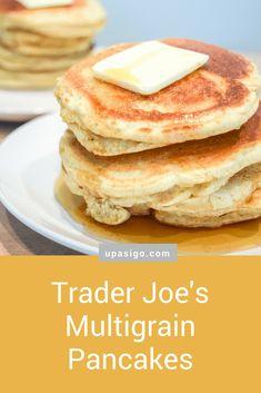 Trader Joe's Multigrain Pancakes - Up As I Go Multigrain, Sunday Brunch, Trader Joes, Foodies, Delish, Breakfast Recipes, Vegetarian Recipes, Pancakes, Food Porn