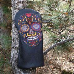 "Driver Headcover ""Dickschädel"" - Be Undercover Undercover, Biker, Skull, Backpacks, Tatoo, Red, Blue, Black, Yellow"