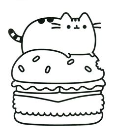 coloring pages of pusheen Pusheen Coloring Pages Cute Dinosaur Hat printable and free  coloring pages of pusheen