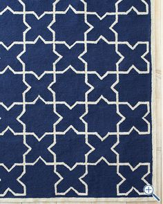 Moroccan Tile Hooked Indoor-Outdoor Rug