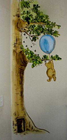 facebook.com/sherribuchananchildrensart Classic Winnie the Pooh Mural