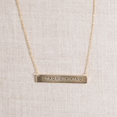 Glory Haus - Korie Robertson Strong + Kind Horizontal Gold Necklace