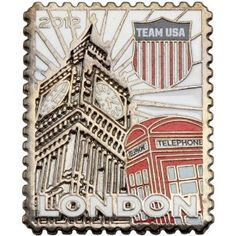 Price:  - London 2012 Team USA Stamp Pin - TO ORDER, CLICK ON PHOTO
