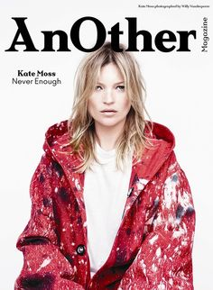 Kate Moss on one of the four covers for AnOther Magazine A/W14. Photography by Willy Vanderperre, Styling by Olivier Rizzo.