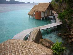 Misool Resort – C Kairouz Architects Dive Resort, West Papua, Bar Stock, Education Architecture, Archipelago, Garden Bridge, Architects, Villa, Cottage