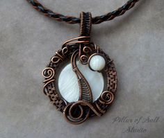 Wire Wrapped jewelry handmade wire wrapped pendant necklace