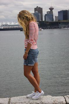 stripes plus denim plus white chucks... my style