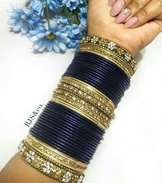 Engagement & Wedding Indian Fashion Designer Chudi Set New Blue Bangles Set Women Collection Modern And Elegant In Fashion Bridal & Wedding Party Jewelry