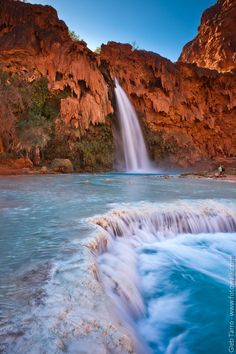 """Havasu Fall"" by Gleb Tarro on 500px - Havasu Falls on the Havasu Indian Reservation in the heart of the Grand Canyon, Arizona."