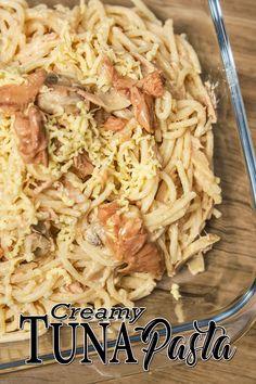 Creamy Tuna Pasta - Pasta Recipes a Pinoy Recipes. A Creamy Tuna Pasta ala Carbonara made of Spaghetti Pasta, Milk, All Purpose Cream, Cheese, Tuna Flakes and Cheese. Best Served with Garlic Bread.  #creamytunapasta #Tunapasta #Pastarecipes Easy Egg Recipes, Meal Recipes, Fish Recipes, Pasta Recipes, Creamy Tuna Pasta, Sardine Recipes, Corned Beef Recipes, Omelette Recipe, Pinoy Food