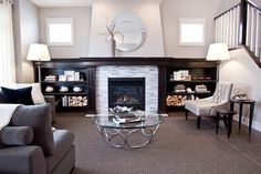 Amazing fireplace & feature wall
