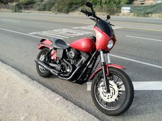My latest bike. 2001 Harley Davidson Dyna FXDX. AKA The Big Red Vadyna.