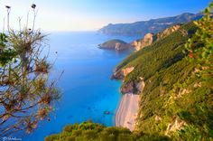 The Stelari Beach mainly consists of pebbles. It is a deserted beach with crystal clear waters and access is only by boat. Corfu Beaches, Corfu Island, Crystal Clear Water, Love Home, Greek Islands, Greece, Beautiful Places, Places To Visit, Boat