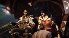 Fable: The Journey - Gabriel and Fable's omnipresent wizened old seer, Theresa.