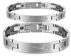 His or Hers Titanium Magnetic Bracelet in a Nice Gift Box Antifatigue Pain Relief BR227 Hers * Want to know more, click on the image.